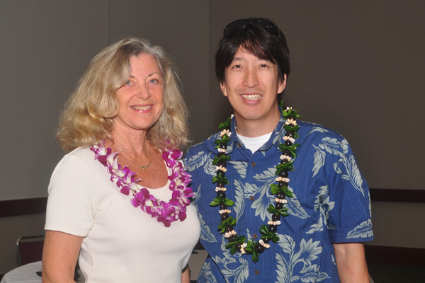Linda Sherman with Edward Sugimoto at Hawaii Social Media Summit