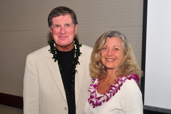Linda Sherman with John Heckathorn Fellow Speakers Hawaii Social Media Summit