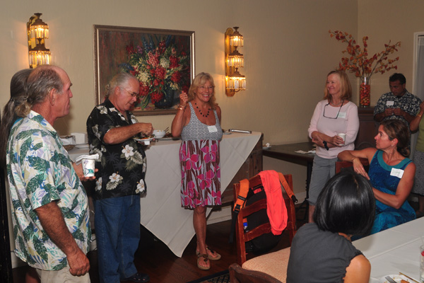 Jai Roberts, Hostess of Honua Lani Gardens and Co-Founder Sustainability Forums Kauai Speaking