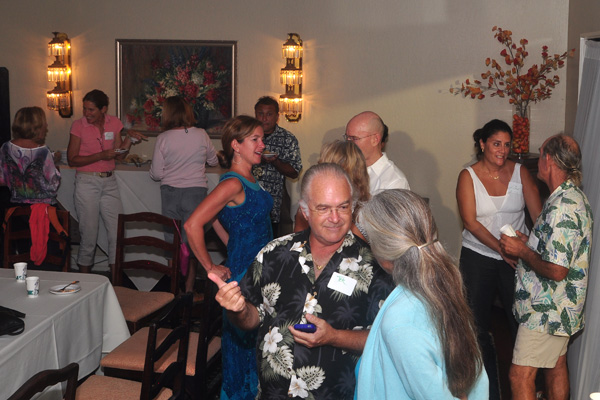 Networking Before Presentations at Sustainability Forums Kauai