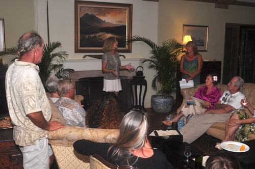 Linda Sherman speaking at Sustainability Forums Kauai
