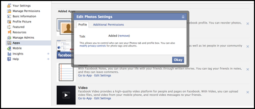 Native FB apps and views cannot be customized screen shot for kauai marketing