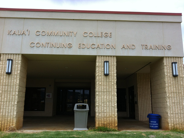 KCC OCET building front Kauai Community College