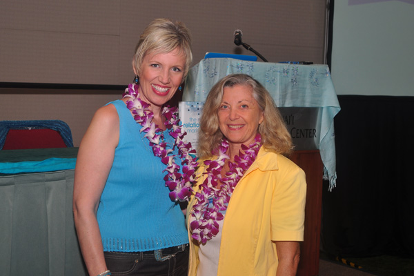 Mari Smith with Linda Sherman Hawaii Social Media Summit