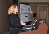 Linda Sherman presenting