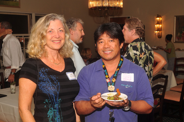 Linda Sherman with John Sydney Yamane at Sustainability Forums Kauai