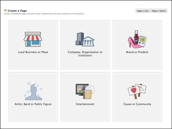 Create Facebook Page Start Image