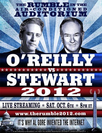 Rumble 2012 Jon Stewart vs Bill O'Reilly Debate Poster