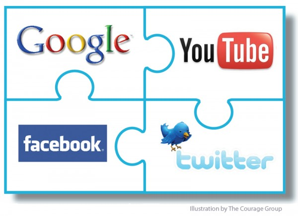 The social media puzzle. Created by The Courage Group Ray Gordon